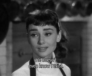 audrey hepburn, quotes, and black and white image