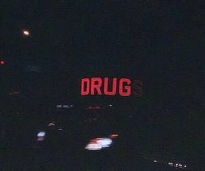 drugs, dark, and red image