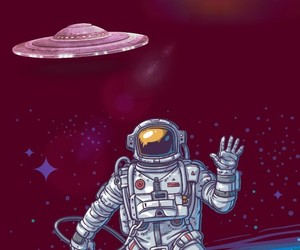 alien, astronauta, and color image