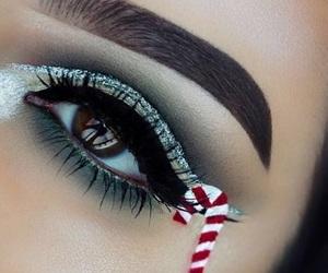 christmas, girl, and makeup image