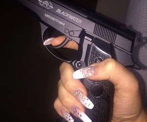 gun, nails, and ghetto image
