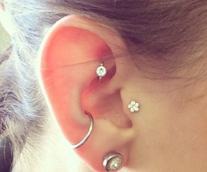 piercing, ear, and style image