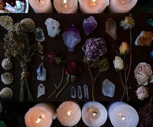 witch, candle, and crystal image
