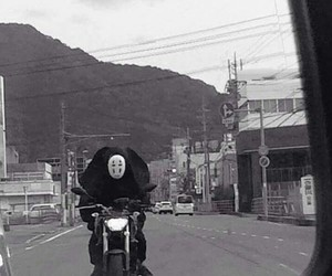 funny, ghost, and motorcycle image