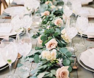 candles, table, and wedding image