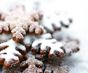 christmas, snow, and food image