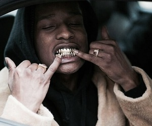 asap rocky, asap, and gold image