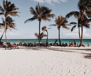 beach, cancun, and earth image