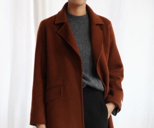 coat, fashion, and burgundy image