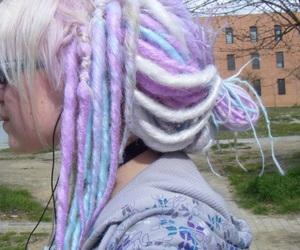 dreadlocks, dreads, and pastel image