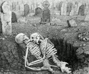 love, skeleton, and death image