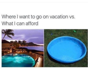 funny, vacation, and pool image