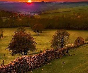sunset, derbyshire, and england image