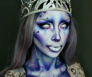 Halloween, maquillaje, and miedo image