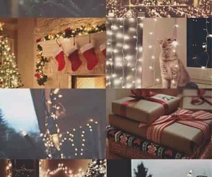 cozy, holiday, and lights image
