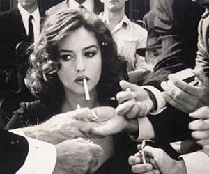 cigarette, smoke, and woman image