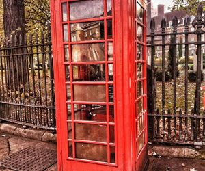 london, oldschool, and red image
