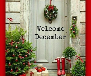merry christmas, hello december, and welcome december image