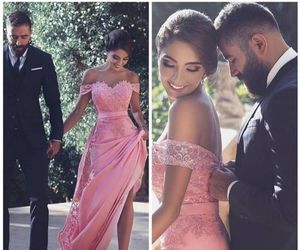 a-line, prom dress, and long image