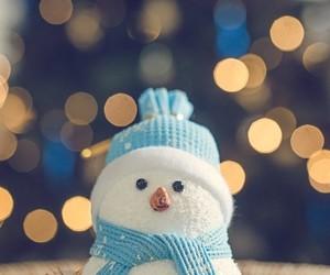 winter, snowman, and christmas image