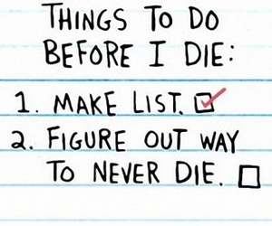 before i die and list image