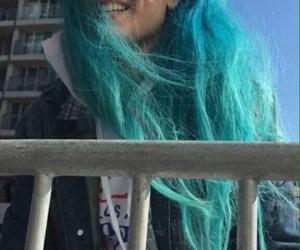 blue hair, kawaii, and pretty girl image
