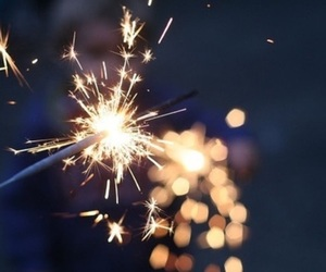 light, fireworks, and sparkler image