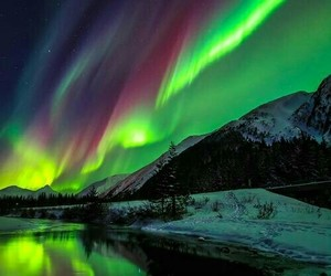 northern lights and nature image