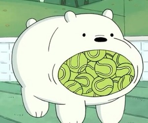 cartoon network, ice bear, and pan pan image