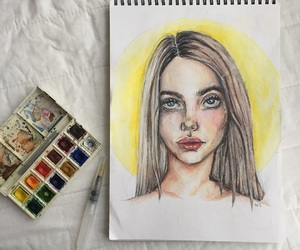artist, artistic, and drawing image