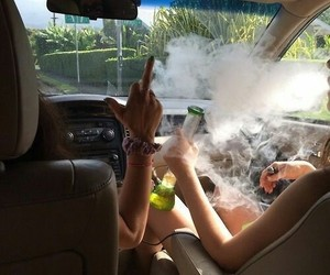 weed, smoke, and car image