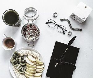 food, coffee, and glasses image