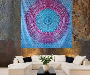 boho, hippie tapestry, and ombre tapestry image