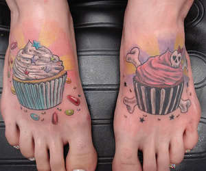 tattoo and cupcake image