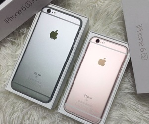 iphone, rosegold, and apple image
