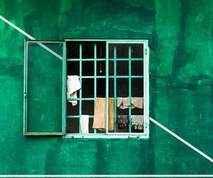 green, wall, and photography image