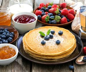 breakfast, fruit, and justagirldreamer image