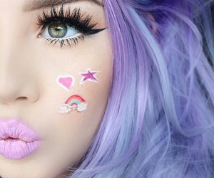 make up, beauty, and lips image