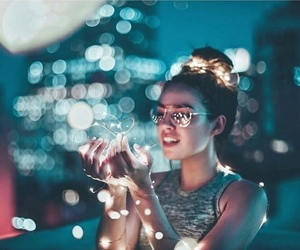 lights, photography, and aesthetic image