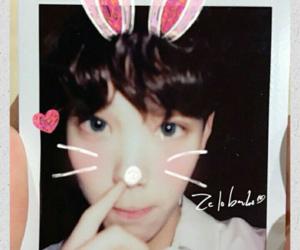 bunny, kpop, and polaroid image