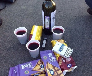 wine, milka, and alcohol image