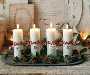 christmas, beautiful, and candles image