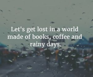 books, coffee, and quotes image