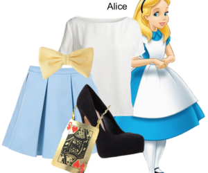 alice, alice in wonderland, and bow image