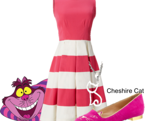 alice in wonderland, outfit, and cat image