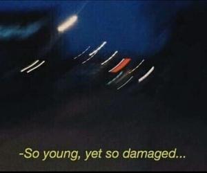 grunge, young, and damaged image