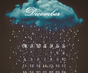 calendar, calendrier, and december image