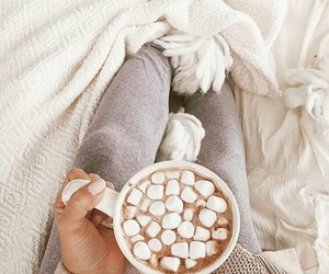 winter, marshmallow, and hot ​chocolate image