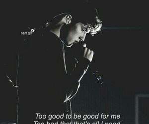 troye sivan, black and white, and too good image