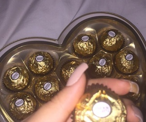 nails, chocolate, and gold image